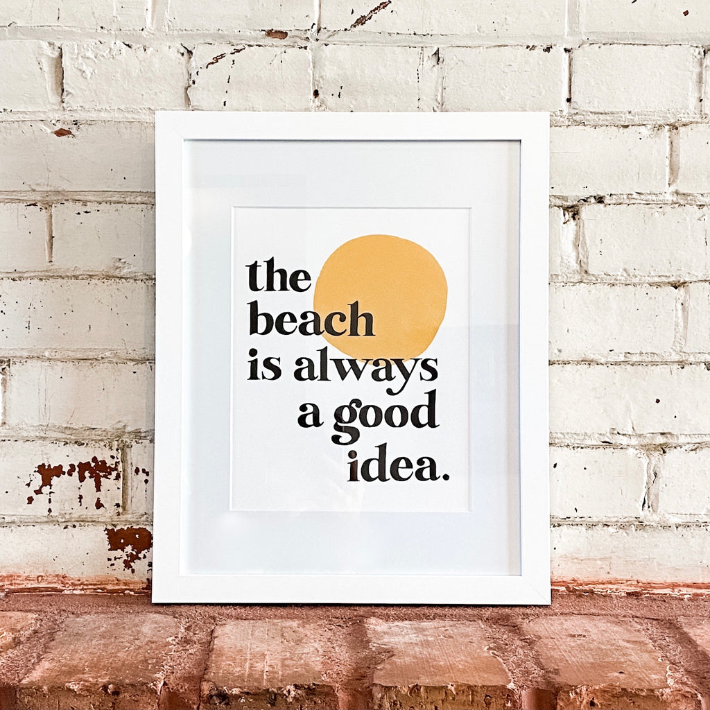 Beach Print by Idlewild Co.