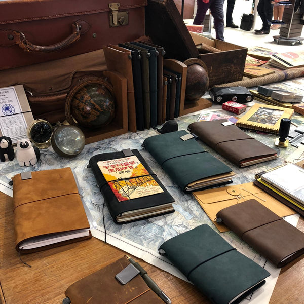 Traveler's notebook leather journal from Japan
