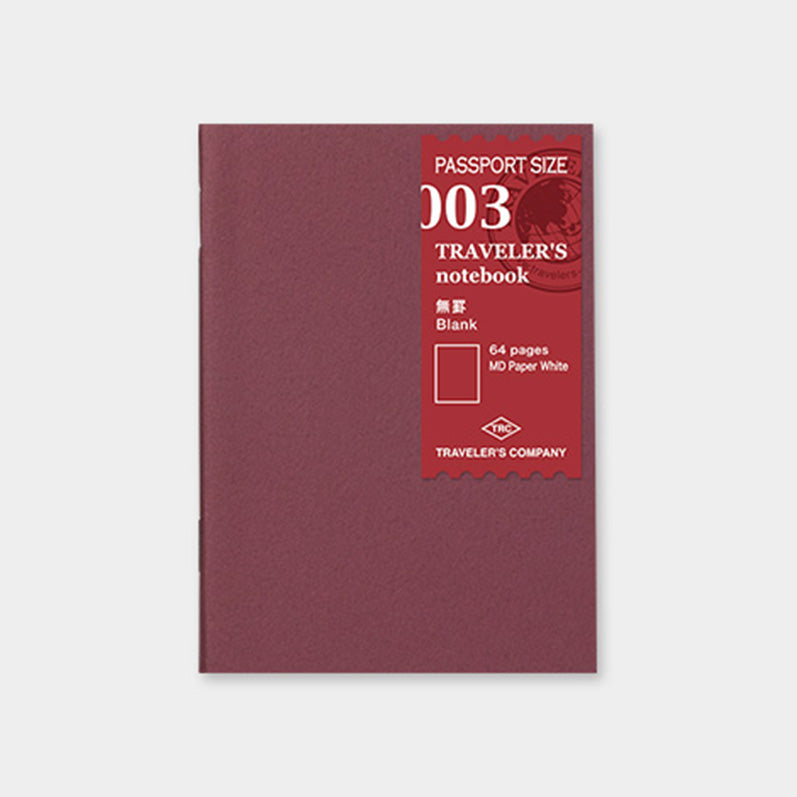 TRAVELER'S notebook Refill <Passport Size> Blank MD 003 - The Outsiders