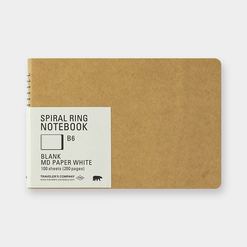 TRC SPIRAL RING NOTEBOOK <B6> MD White - The Outsiders