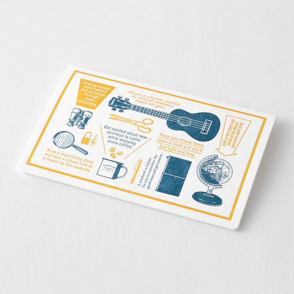 TF Letterpress Card Blue FO - The Outsiders