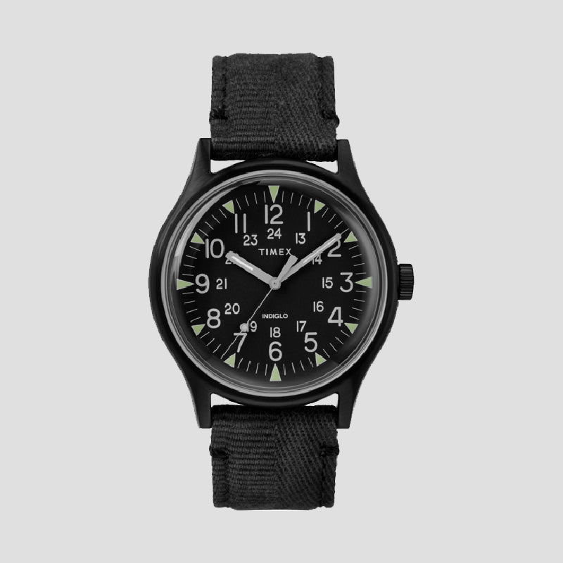MK1 Steel 40mm Fabric Strap Black Watch - The Outsiders