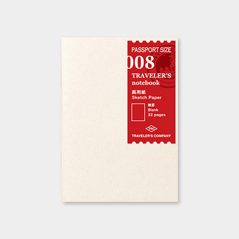 TRAVELER'S notebook Refill <Passport Size> Drawing Paper 008 - The Outsiders