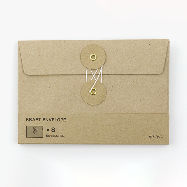 KRAFT ENVELOPE <M> Horizontal with String Brown - The Outsiders