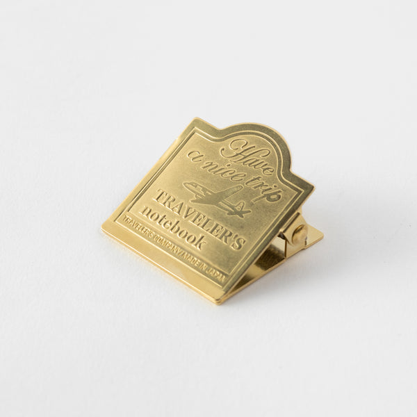 TRAVELER'S notebook Brass Clip Airplane - The Outsiders