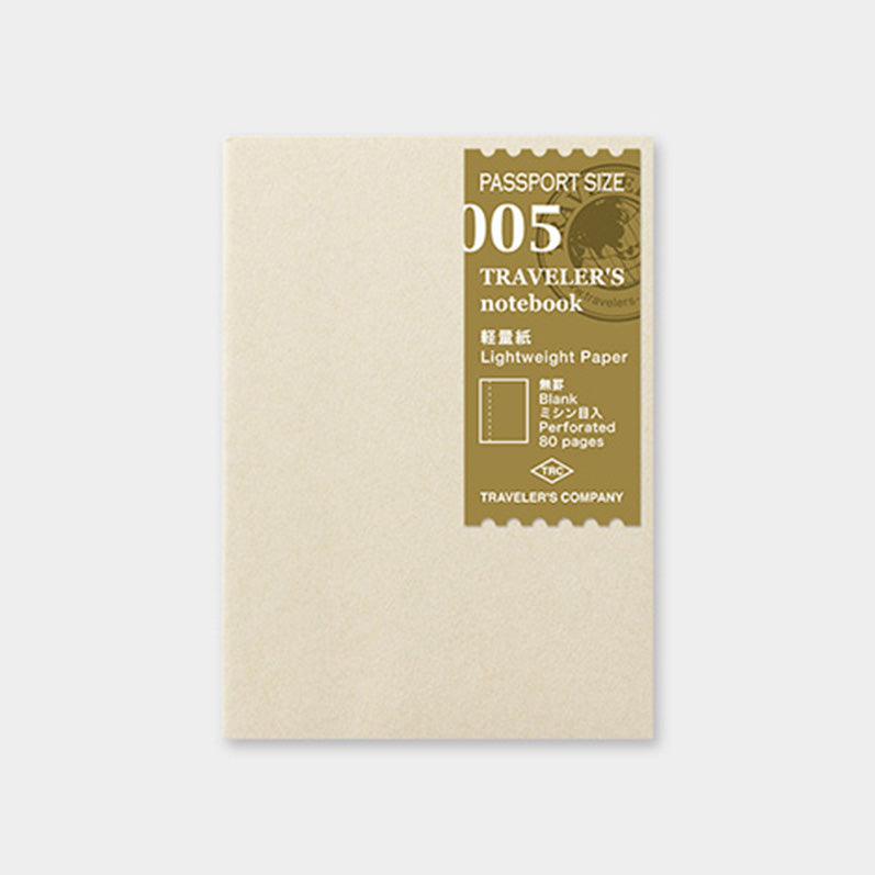 TRAVELER'S notebook Refill <Passport Size> Light Paper 005 - The Outsiders