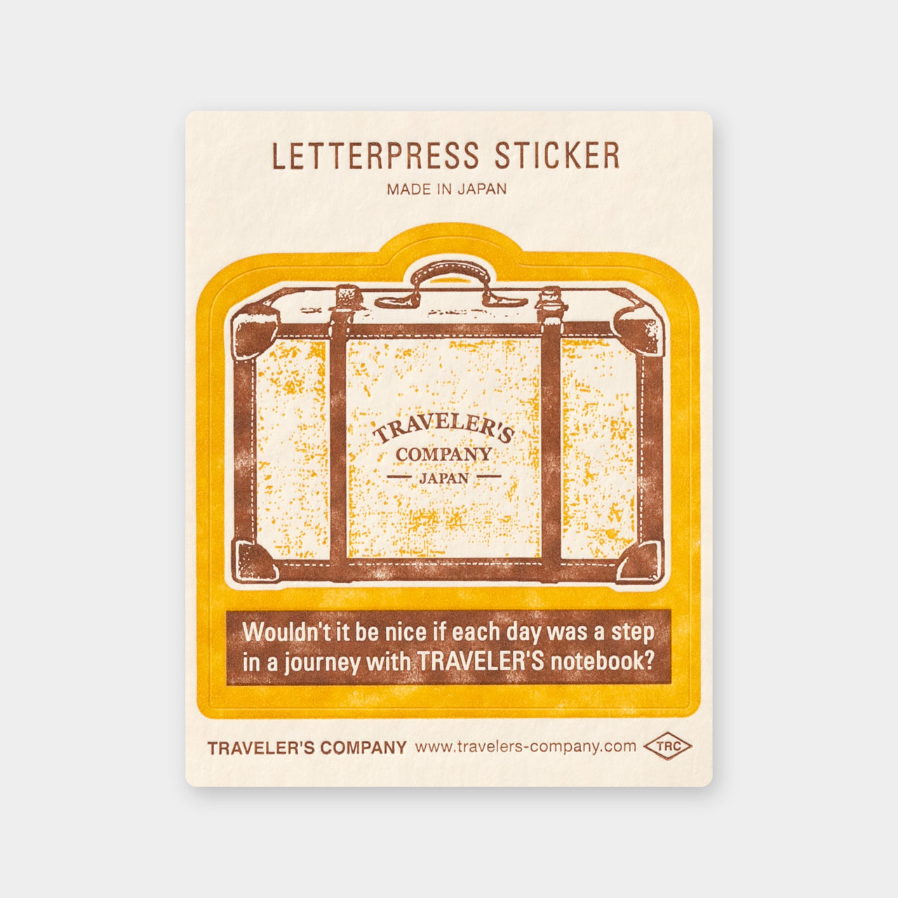 TF Letterpress Sticker Yellow FO - The Outsiders