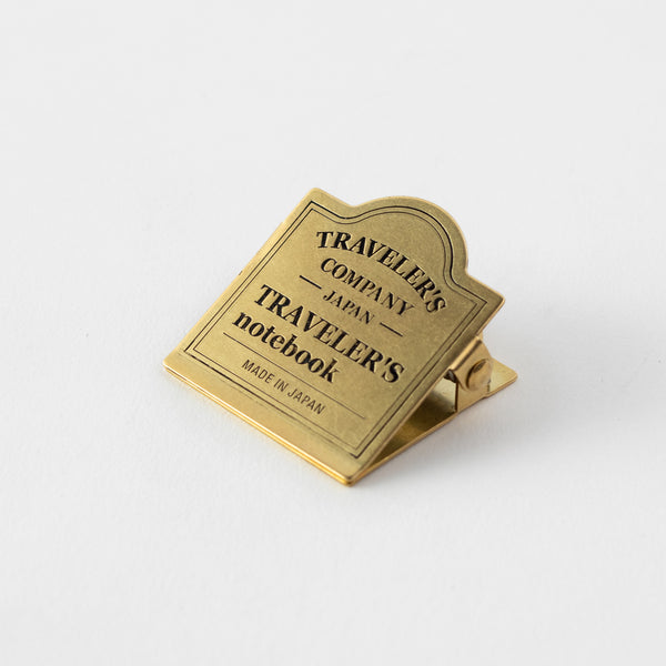 TRAVELER'S notebook Brass Clip TRC Logo - The Outsiders