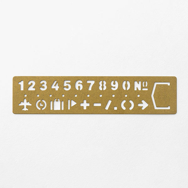 BRASS Template Bookmark Number - The Outsiders