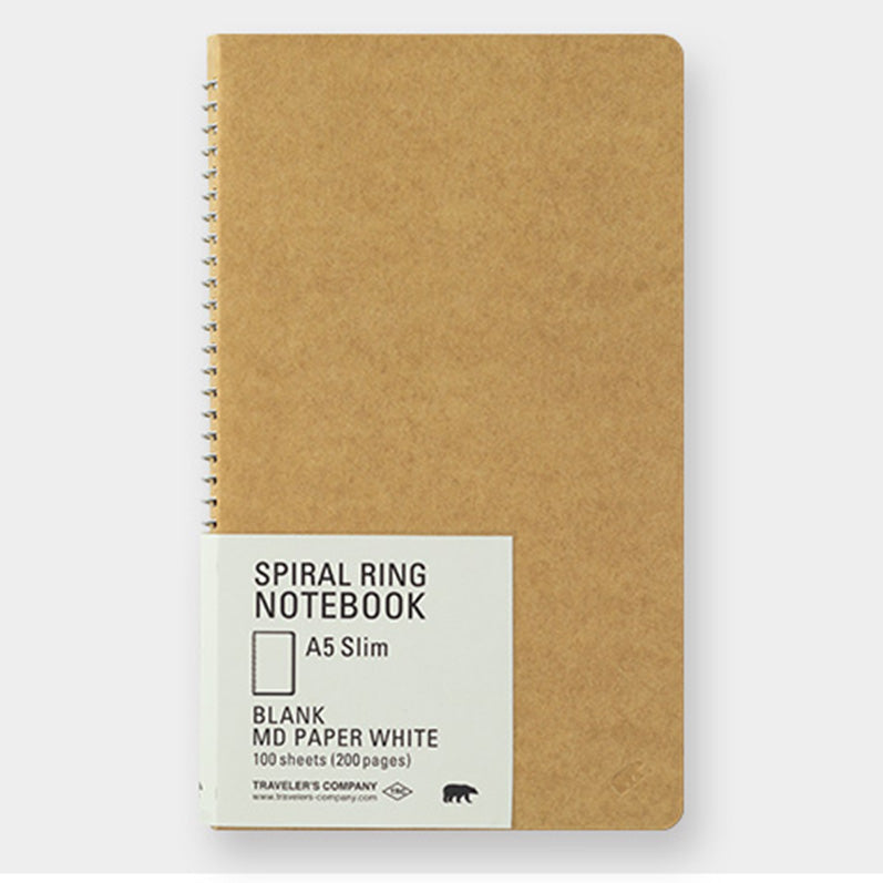TRC SPIRAL RING NOTEBOOK <A5 Slim> MD White - The Outsiders