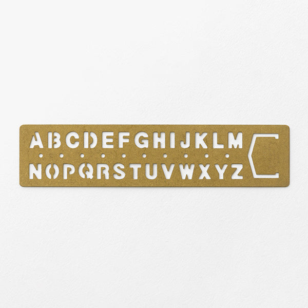 BRASS Template Bookmark Alphabet - The Outsiders