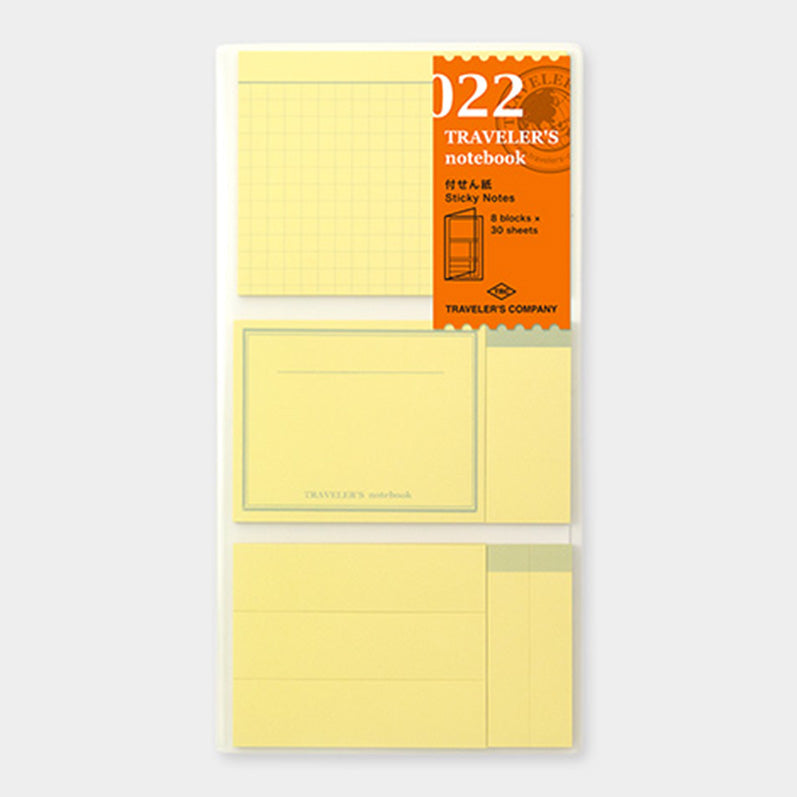 TRAVELER'S notebook Refill Sticky Memo Pad 022 - The Outsiders