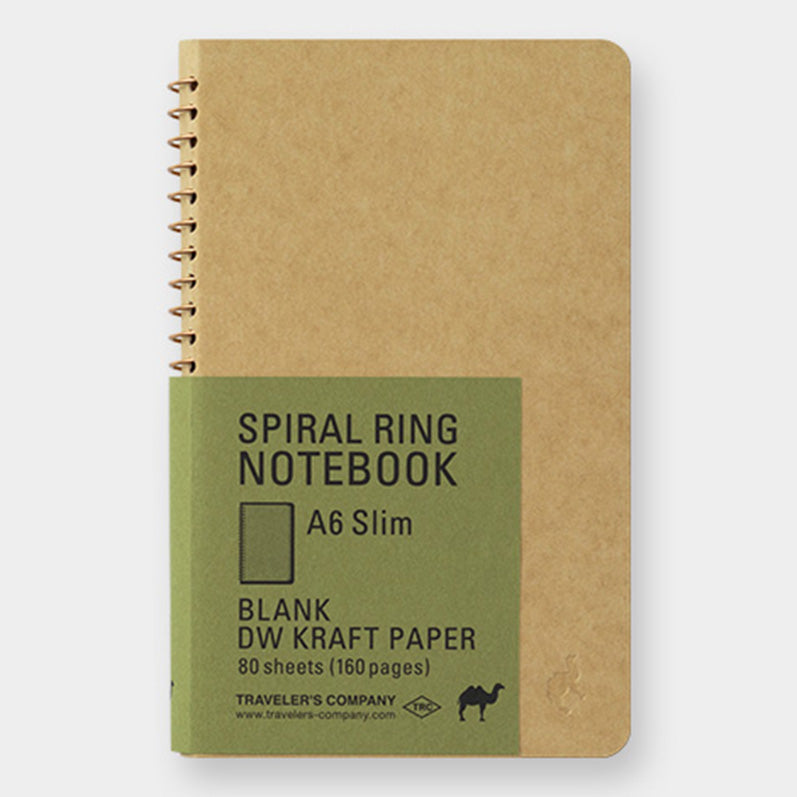 TRC SPIRAL RING NOTEBOOK <A6 Slim> DW Kraft - The Outsiders