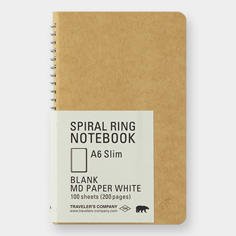 TRC SPIRAL RING NOTEBOOK <A6 Slim> MD White - The Outsiders