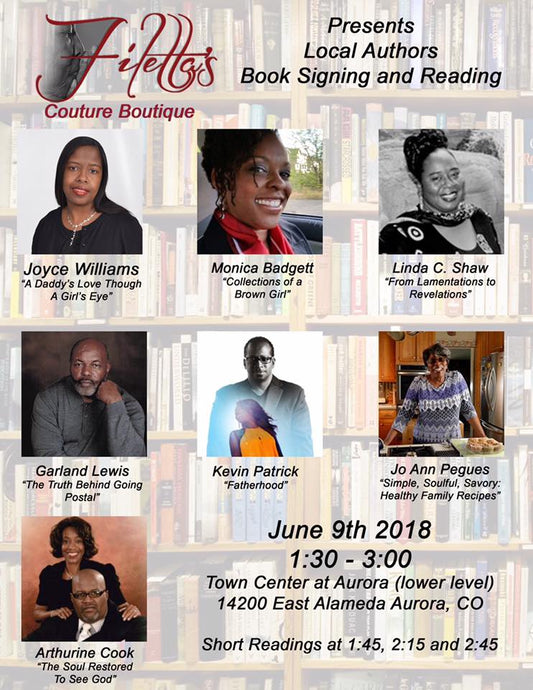 Book Signing- Filetta's Couture Boutique Presents Local Authors Book Signing and Reading June 9, 2018