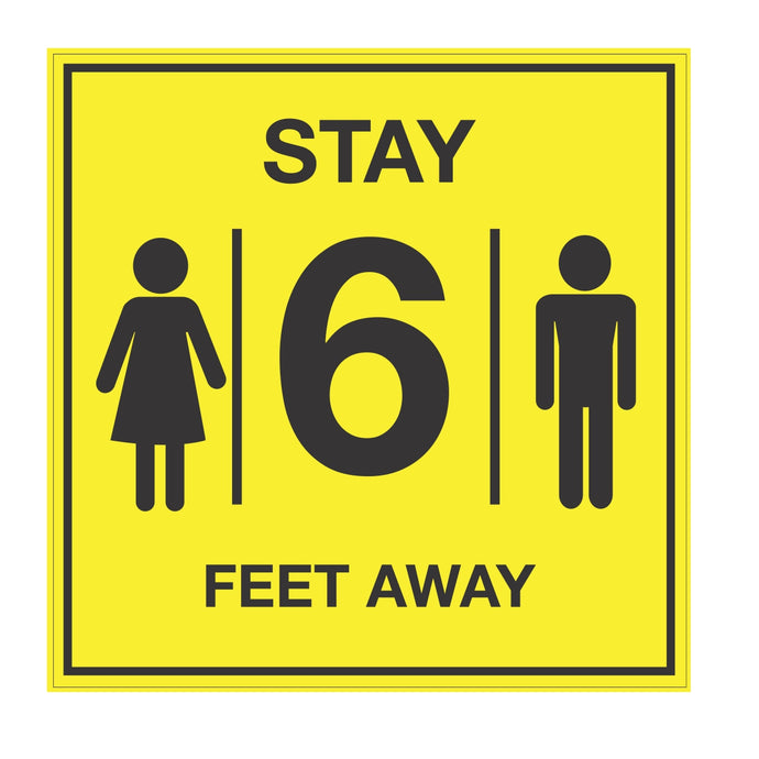 Stay 6 feet away Covid-19 Floor Graphic