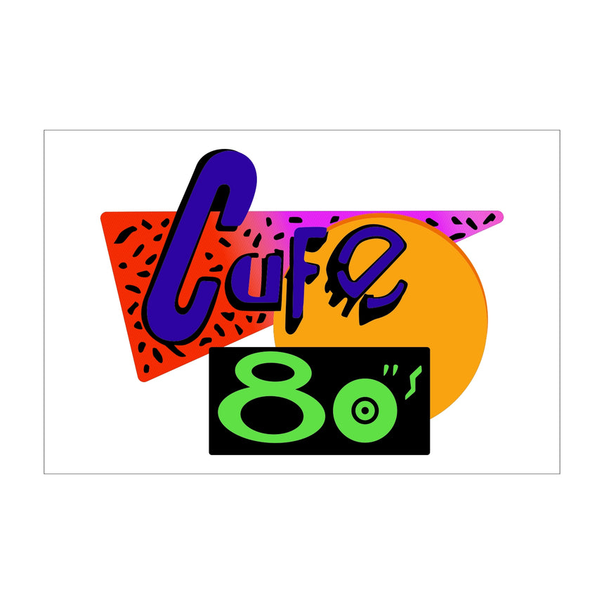 Cafe 80's Sign from Back to The Future Part 2