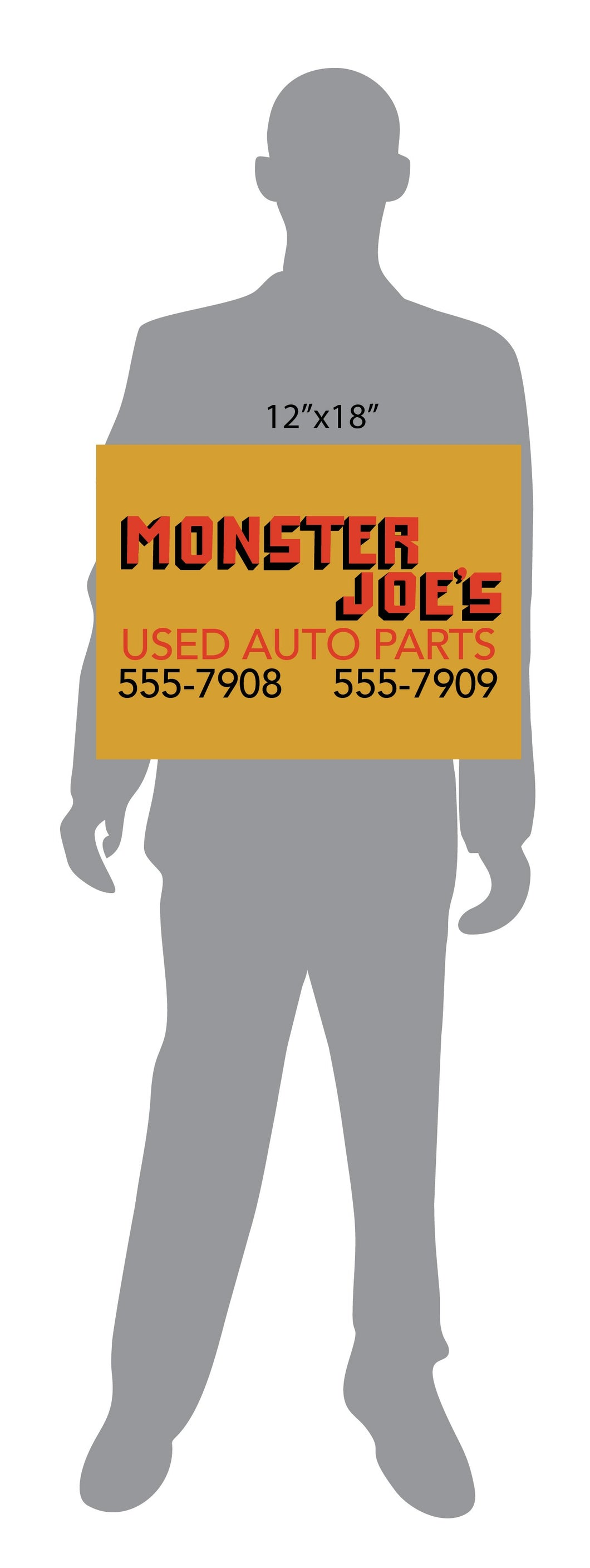 Monster Joe's Used Auto Parts Pulp Fiction Sign