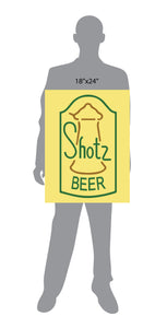 Shotz Beer Laverne and Shirley Sign