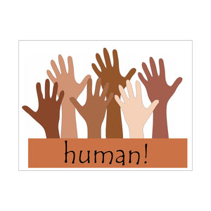 Human Hands of All Colors Yard Sign