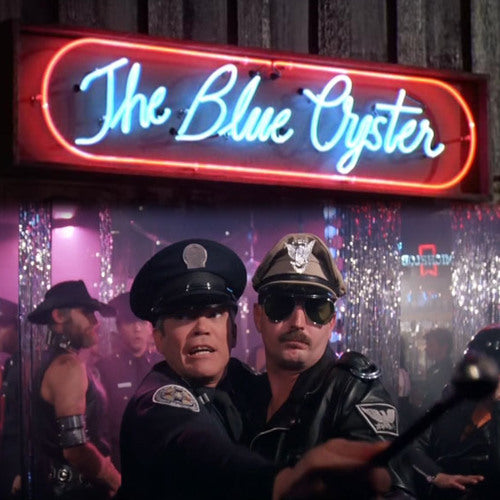 Blue Oyster Sign from Police Academy