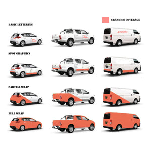 Vehicle Graphics - Spot Graphics, Partial and Full Wraps