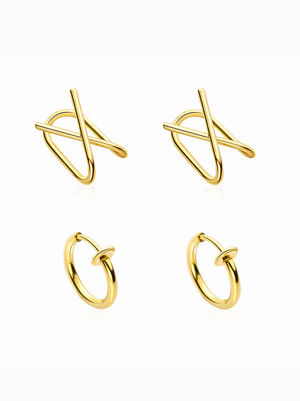 Ear Cuff Set Cartilage Hoop