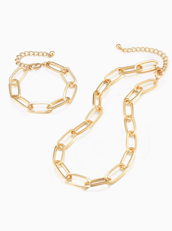 Link Bracelet & Necklace Set - Bold
