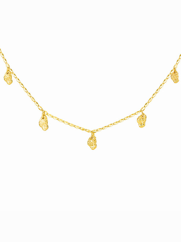 Shiny Multiple Facet Necklace In Gold