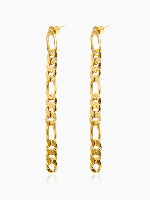 Minimalism Long Chain Pendant Earrings