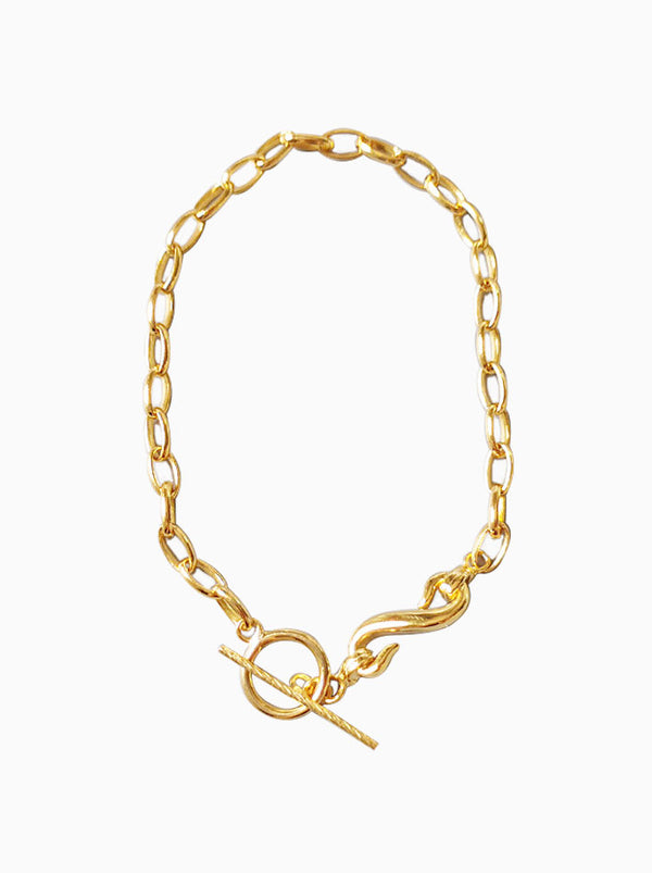 Gold over Sterling Silver Egg Wish Bracelet