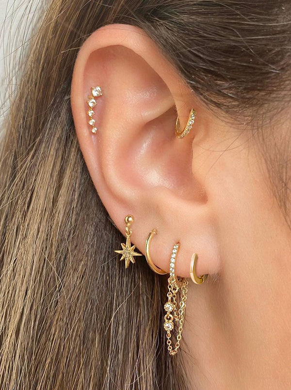 Tiny Cartilage Huggie Hoop Earrings