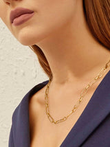 Oval Paperclip Link Chain Necklace 20""