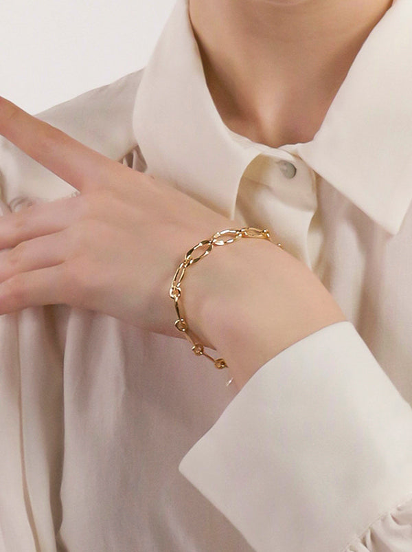 Katherine Pearl Gold Plated Chain Bracelet