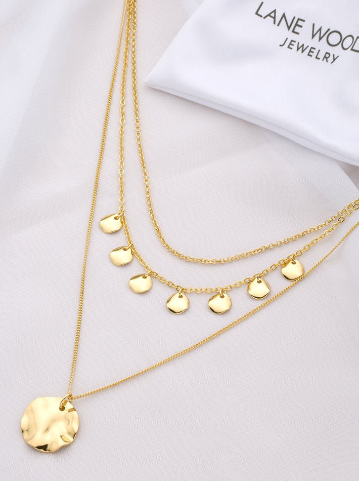 Multiple Coin Pendant Choker Layered Necklaces