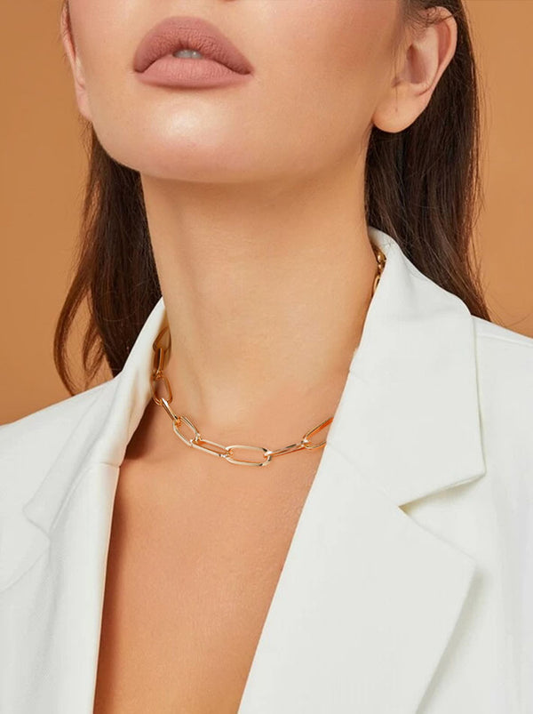 Paperclip Chain Necklace - Thick