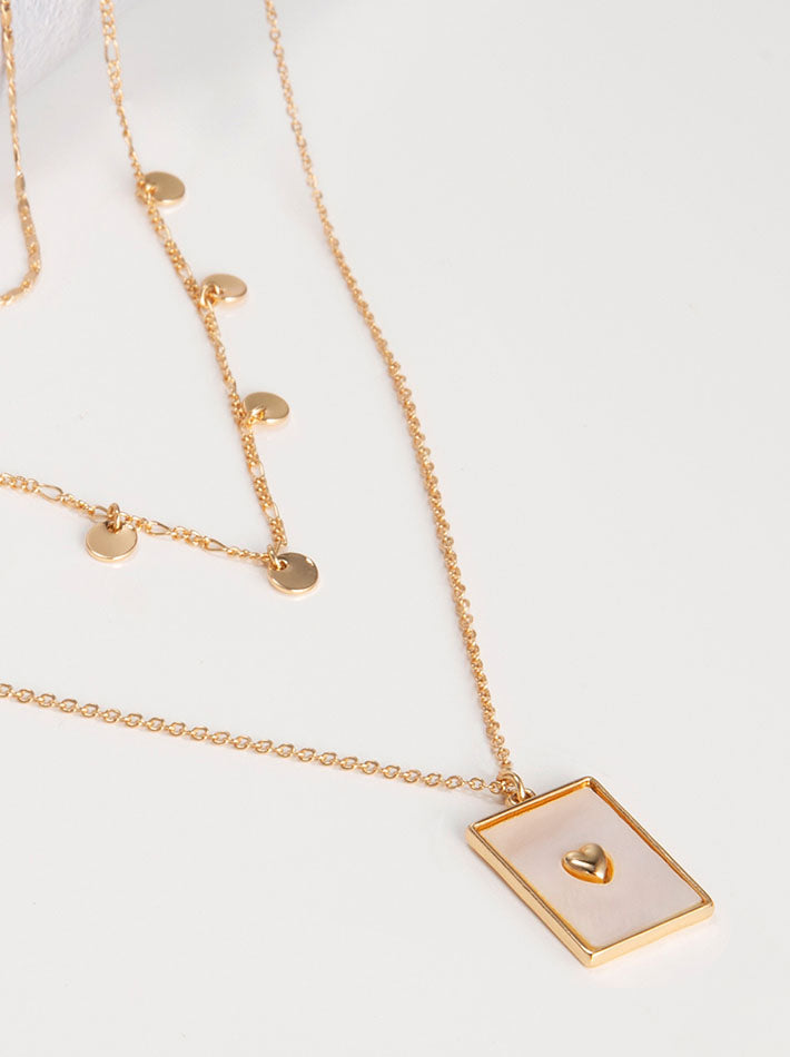 Heart Shaped Multi-layered Necklace