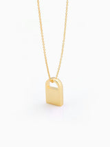 """ Lock Your Brilliant Heart "" Necklace"