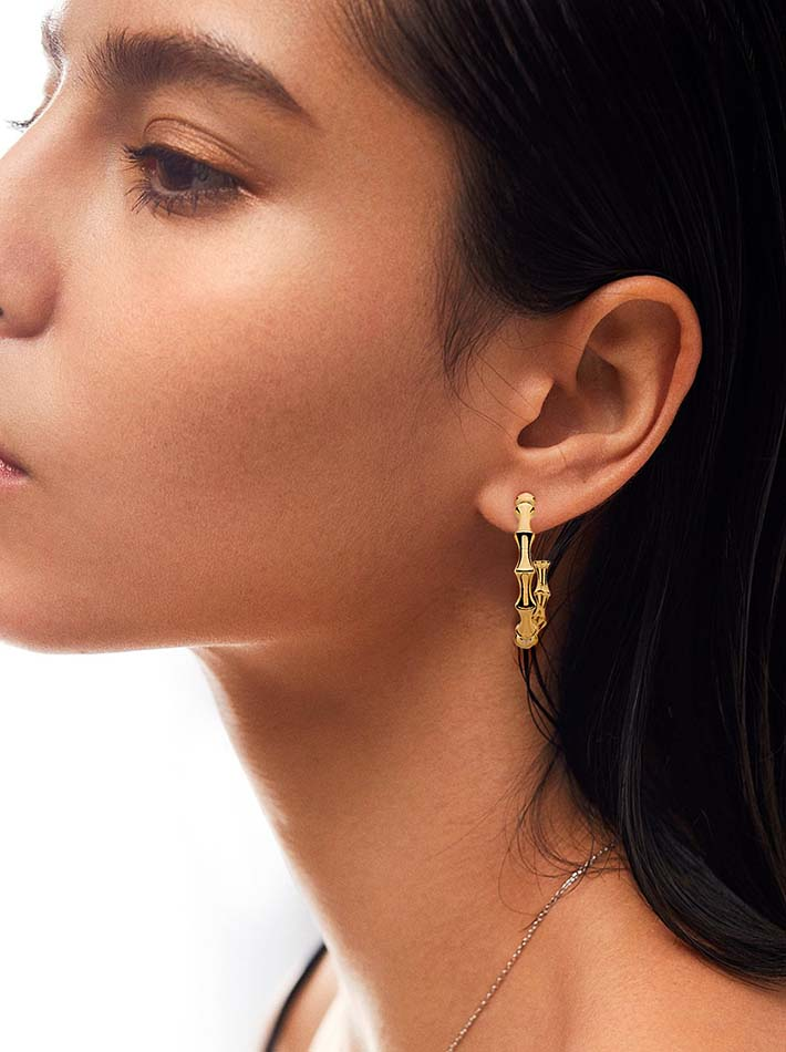 huggie hoops earrings