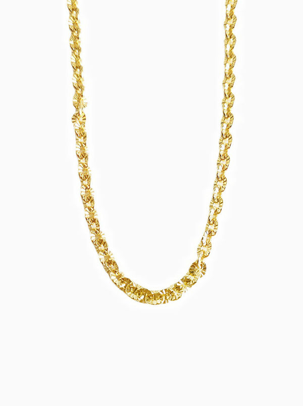 18K Gold Dainty Flower Necklace