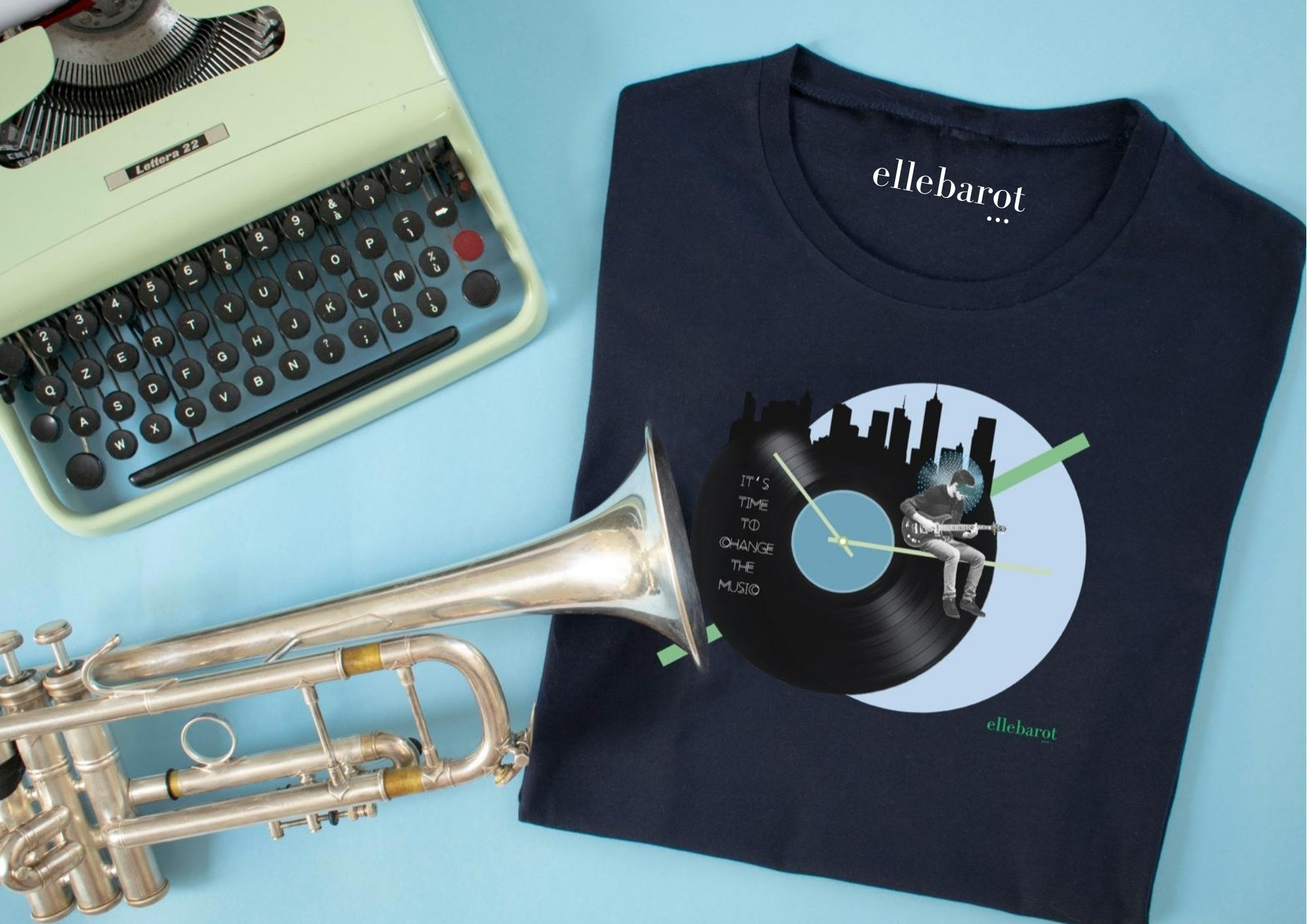 "The ""It's time to change the music"" MAN Tee - ellebarot"