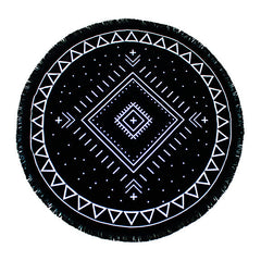 Luxury Round Beach Towel - Joshua Tree