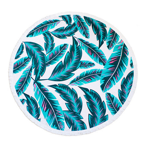 Luxury Round Beach Towel - Malibu
