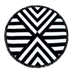 Luxury Round Beach Towel - Palm Springs