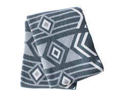 Union Cotton Knitted Throw -Grey/Ivory