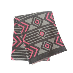Union Throw (Pink/Grey)