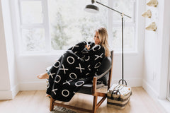 XO Cotton Knitted Throw