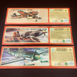 Avion planeur vintage ( set de 3)