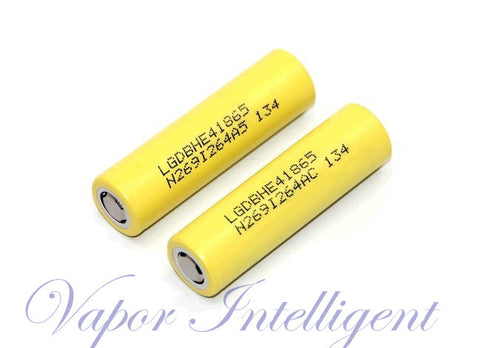 2 X LG BATTERIES HE4 18650 2500MAH 35A RECHARGEABLE HIGH DISCHARGE BATTERIES LGDBHE418