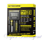 Nitecore D2 Digicharger For AA 18650, 14500, 18350, 16340, 10400 W/ Car Charger